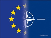 NATO and EU flags